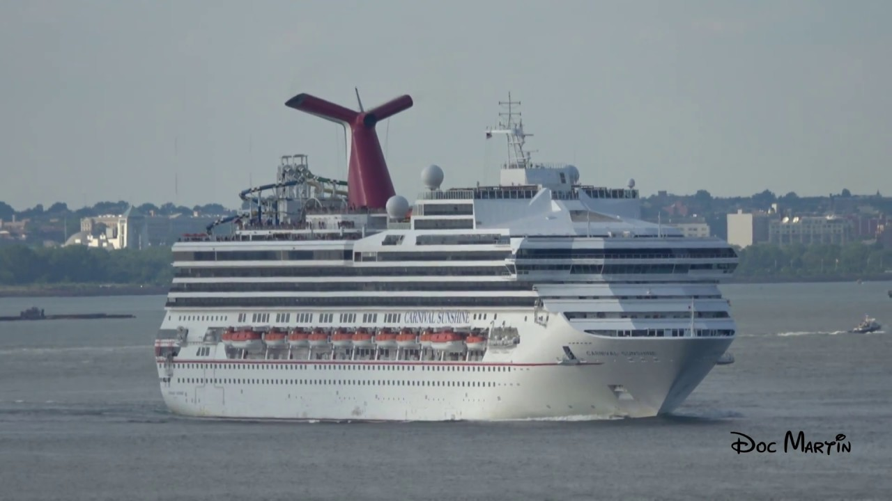 Cruise Ship Carnival Sunshine Leaving New York K YouTube - Cruises departing from ny