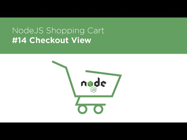 NodeJS / Express / MongoDB - Build a Shopping Cart - #14 Stripe Payment Views