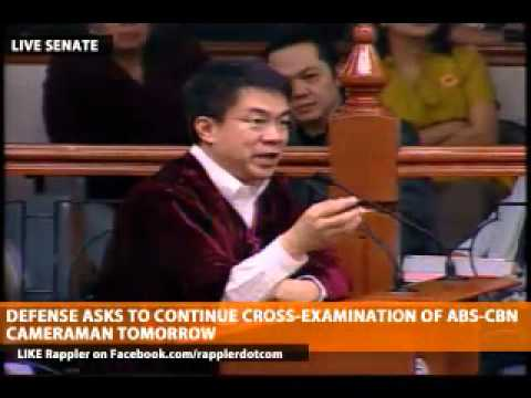 sen. pimentel asks lead counsel cuevas on the technicalities of law