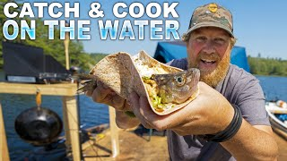 Catch'n Cook Fish Tacos - Day 2 of 7 Day WaterWorld Survival Challenge