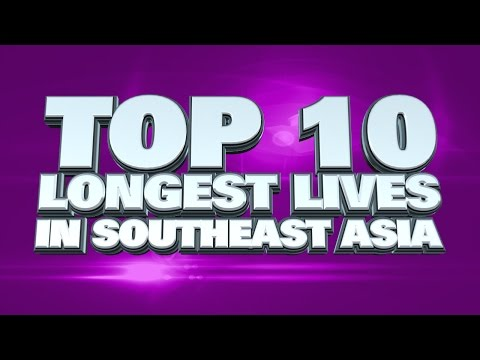 10 countries with longest life-expectancy in Southeast Asia 2014