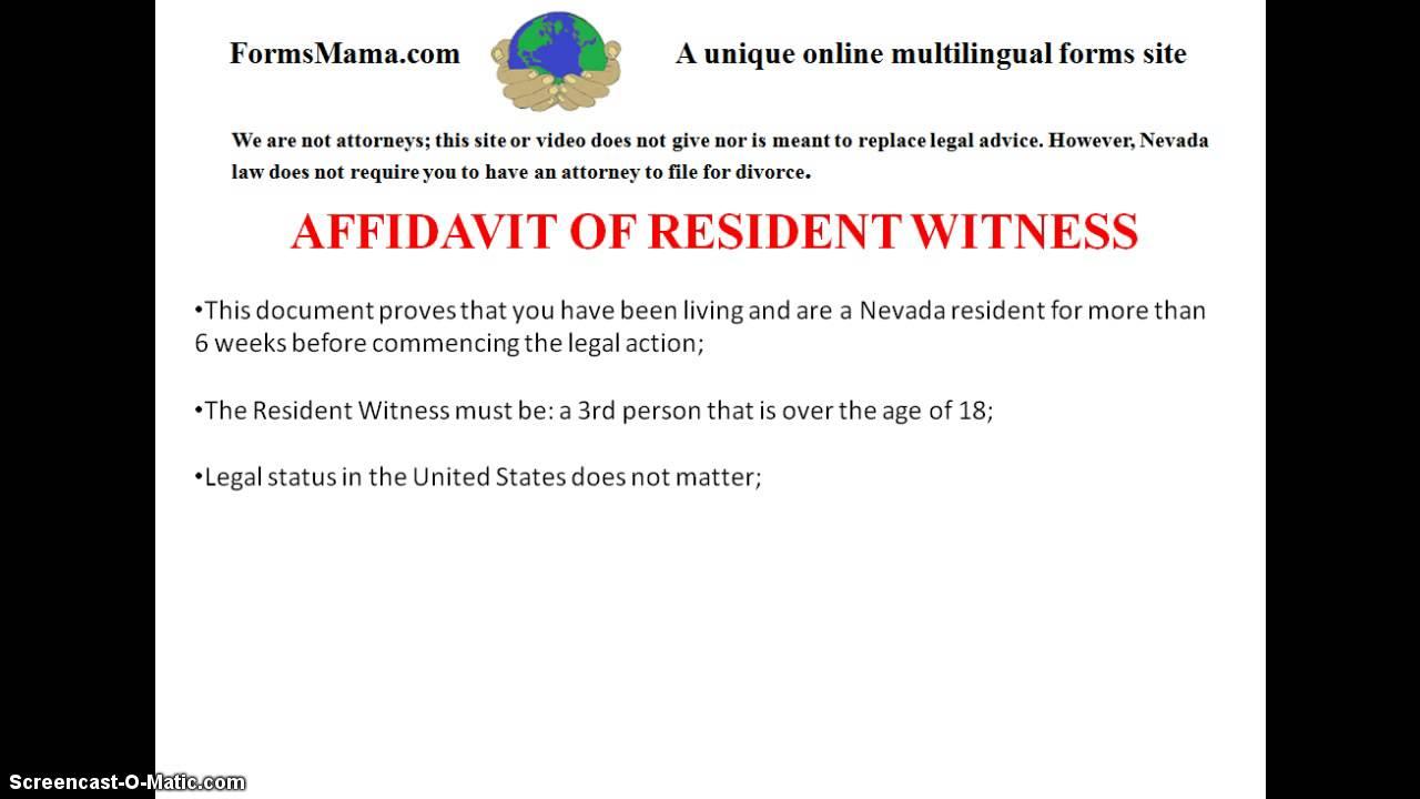 Affidavit of Resident Witness - YouTube