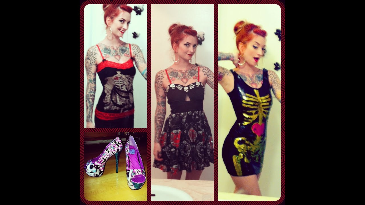 too fast and rat baby punk rockabilly clothing review by cherry dollface youtube. Black Bedroom Furniture Sets. Home Design Ideas