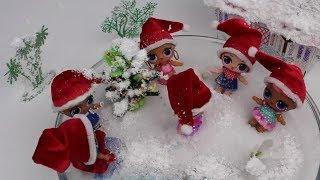 LOL Bebek Sürpriz Yılbaşı Ağacı Noel Şapka Karlı Bahçe Dekoru L.O.L. Fun Kids Toys Bidünya  Oyuncak