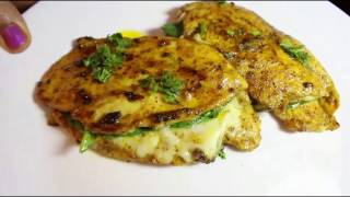 Nonveg- Cheese and Spinach stuffed Chicken