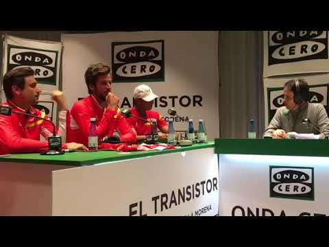 Rafael Nadal & DC Team Interview for Spanish Radio in Valencia, 3-04-2018