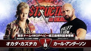 DESTRUCTION in OKAYAMA OKADA vs ANDERSON Match VTR
