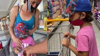 Mother and Daughter Begging Surprised with 10 Minutes Shopping Kindness To Get Anything They Want