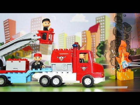 Мультфильм - Пожарные машины тушат пожар. Развивающие мультики для детей.