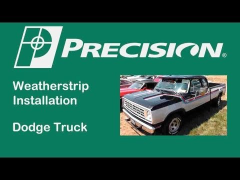 1972-1993 Dodge Pickup Truck Door Glassrun Install