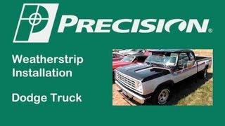 1972-1993 Dodge Pickup Truck Door Glassrun Install