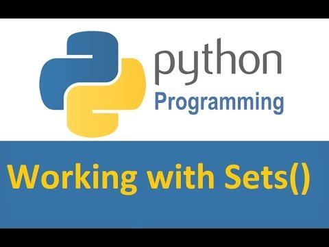 Python 3 Programming Tutorials 07: What are Sets()? thumbnail