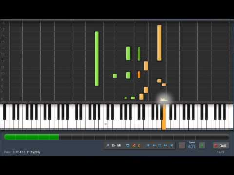 Nokia Ringtone - 40 % Speed - Piano tutorial synthesia