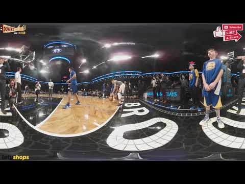 Steph Curry's Pregame Warmup in 360 Degrees vs  the Brooklyn Nets