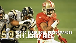 #11: Jerry Rice Super Bowl XXIX Highlights   Chargers vs. 49ers   Top 50 SB Performances