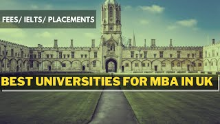 Best Universities for MBA in UK || study MBA abroad || MBA in UK for international students ||