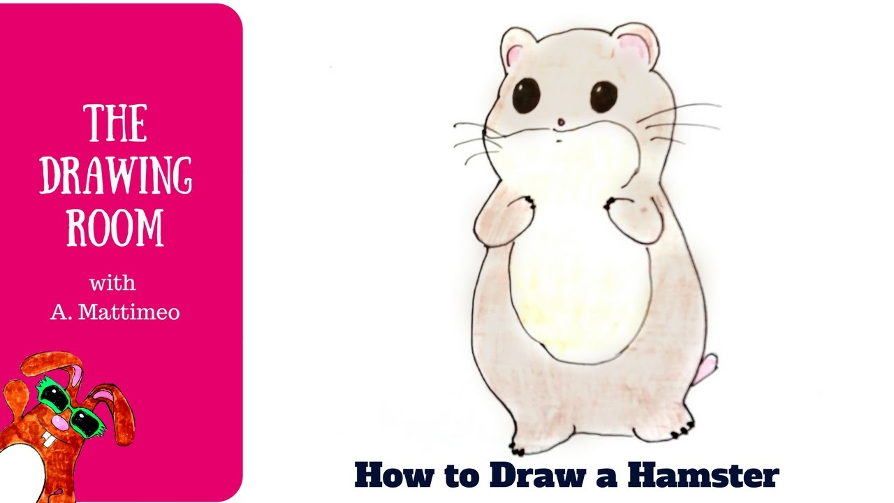 how to draw a cute hamster easy