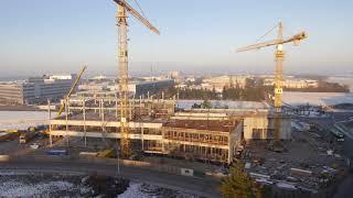 Business Campus München : Garching: Bau des Bürogebäudes Parkring 57 - 59