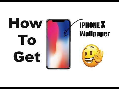 How to download iPhone X wallpapers!