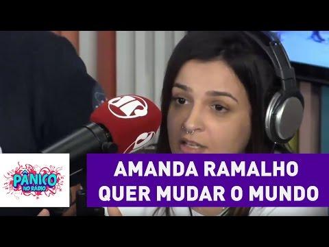 Amanda Ramalho é zoada por querer mudar o mundo | Pânico