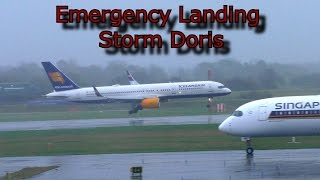 Emergency Landing after crosswind landing attempts