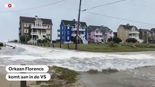 ORKAAN: Florence komt aan land in VS