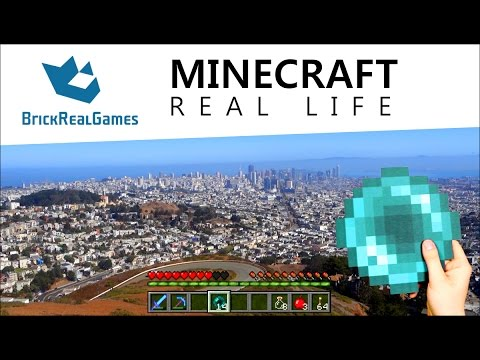 Minecraft Real Life - San Francisco with Ender Pearl - BrickRealGames