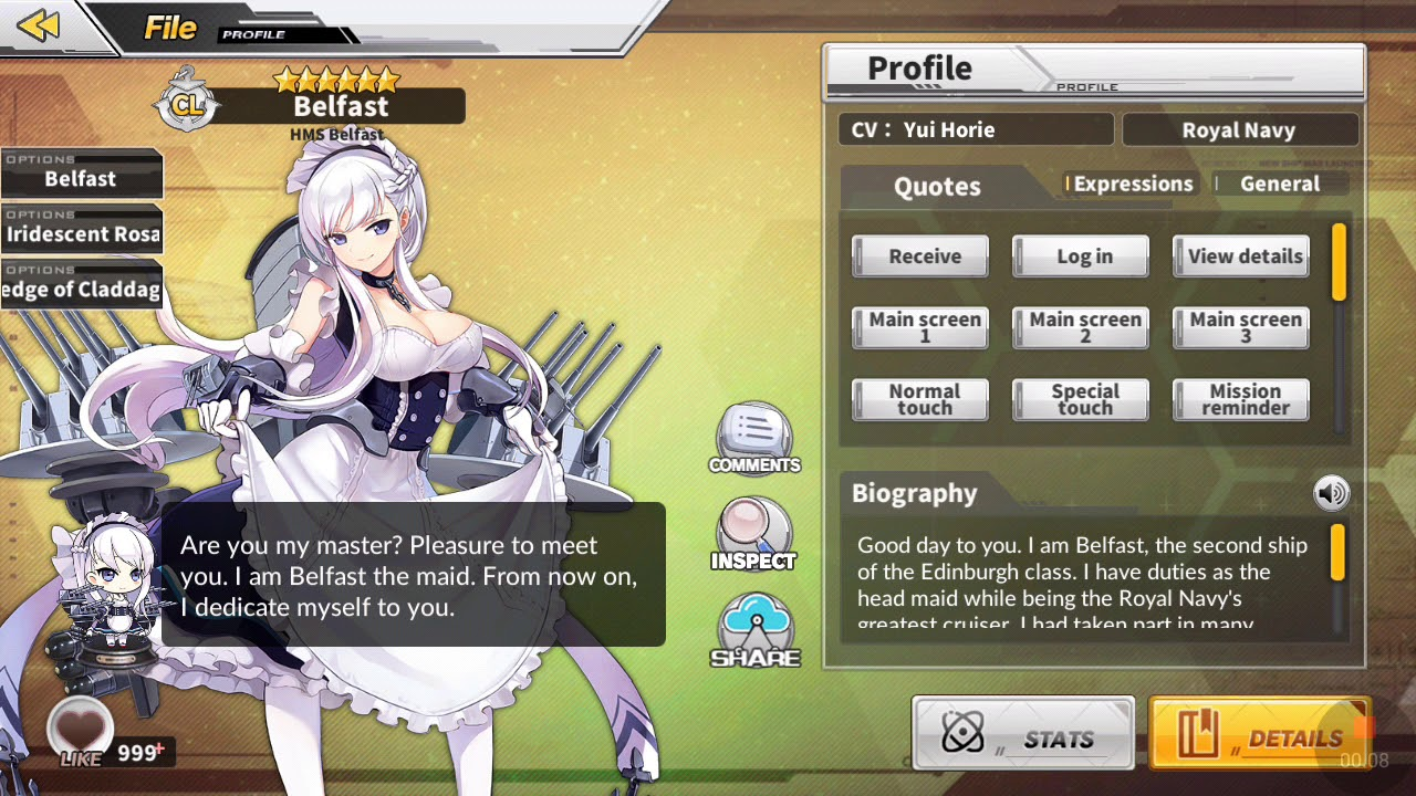 Belfast All Voice Azur Lane Youtube Even though there may not be a single perfect fleet in azur lane, there are a couple of things you should consider when building your ultimate fleet. belfast all voice azur lane youtube