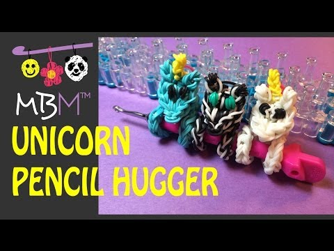 Rainbow Loom Pencil Hugger: Unicorn, Zebra or Pony