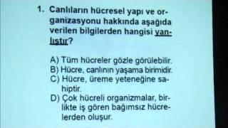 Biyoloji-1 Açık Lise Sınavı 21 Ocak 2012 - Soru 1 www.bkegitim.com