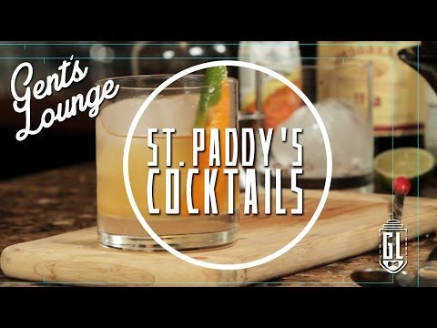 Cocktails For St Paddy's Day by the Gent's Lounge