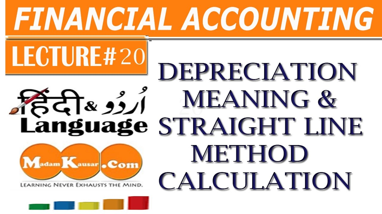 accounting accounts receivable and straight line depreciation A company used straight-line depreciation for an item of equipment that cost $12,000, had a salvage value of $2,000 and had a five-year useful life.