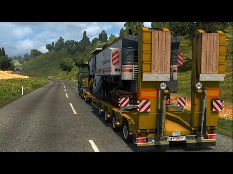 Euro Truck Simulator 2 - Asphalt Miller - Heavy Cargo Gameplay (PC HD) [1080p60FPS]