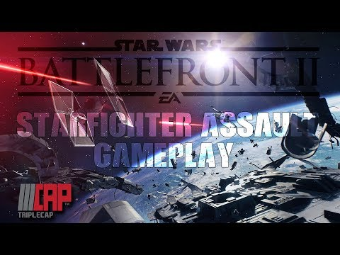 Star Wars - Battlefront 2 BETA - Starfighter Assault Gameplay