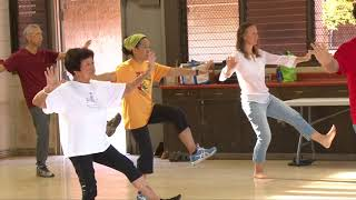 Students Learn: Single Whip, Cloud Hands, Hi Pat, Double Punch everydaytaichi lucy Honolulu