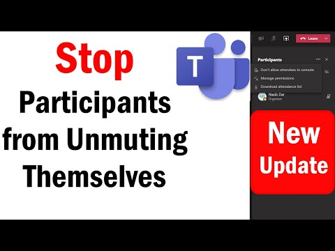 How to Stop participants from Unmuting themselves in MS Teams | MS Teams