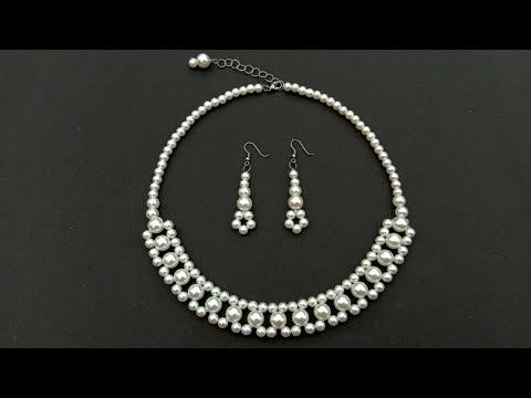 How To Make//A Pearl Necklace//At Home//necklace tutorial// useful & easy