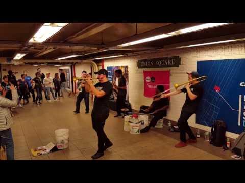 Amazing Drumadics in subway - Union Square, NYC
