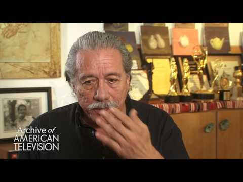 Edward James Olmos discusses getting cast on