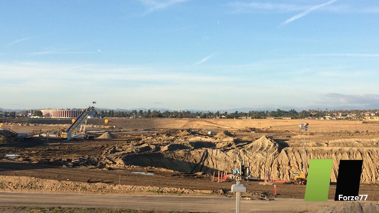 Los Angeles Rams Stadium | Excavation Complete UPDATE #4 ...