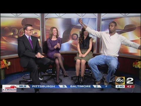 Jacoby Jones visits ABC2NEWS