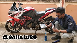 How to clean & lube motorcycle chain in a best way