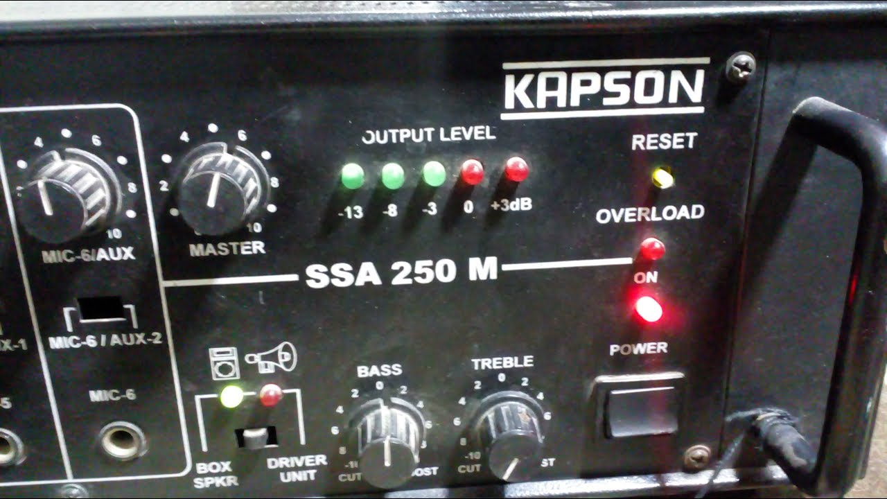 Kapson SSA-250 M POWER AMPLIFIER