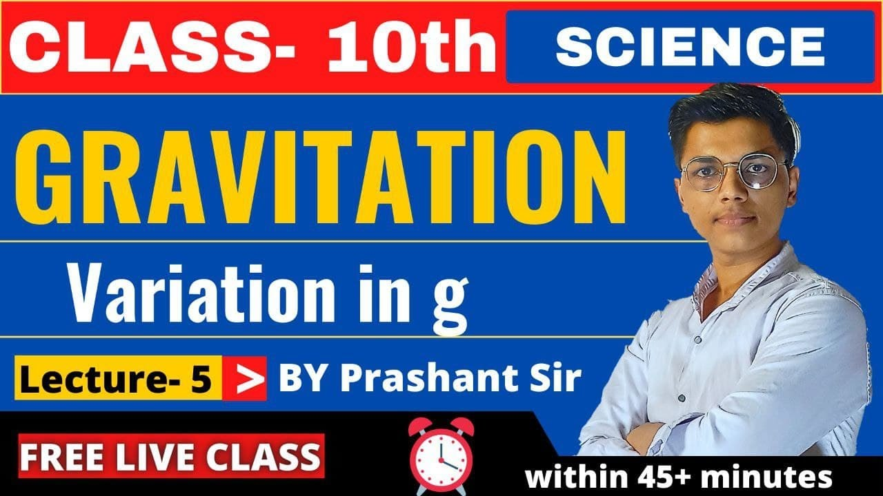 Lecture 5 || Chapter 1 Gravitation class 10 Free Live class || Maharashtra State Board