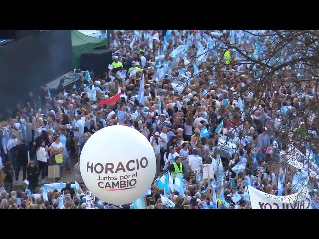 La marcha de apoyo a Macri en el Obelisco reunió a cientos de miles de manifestantes