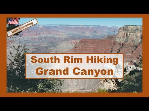 USA traveling : South Rim trail hiking in Grand Canyon  #Arizona