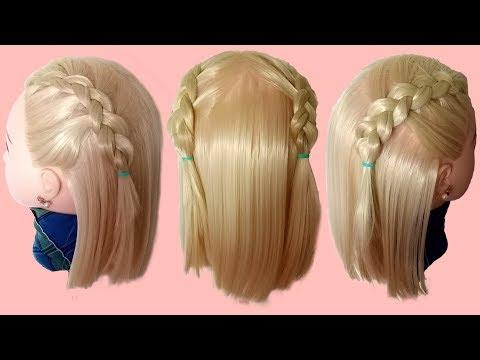 Back To School Hairstyles Ep.53  ทำผมไปโรงเรียน,ถักเปียสองข้างสำหรับสาวผมสั้น By RD Beauty