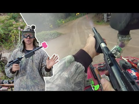 Shooting An Armson Paintball Rifle Pump Gun From Ross Herman Of South Africa C.mid '90s