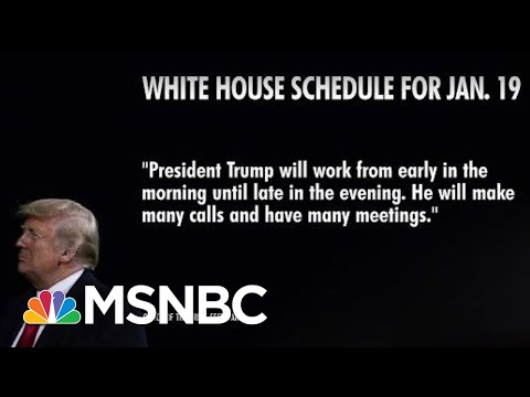 Trump's Schedule Blank For Final Full Day In Office   Morning Joe   MSNBC
