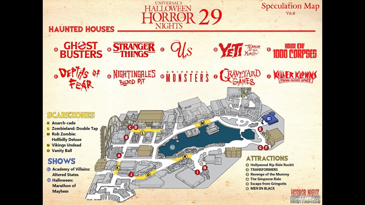 The Final Halloween Horror Nights 29 Map Was Released! In Park Walkthrough!